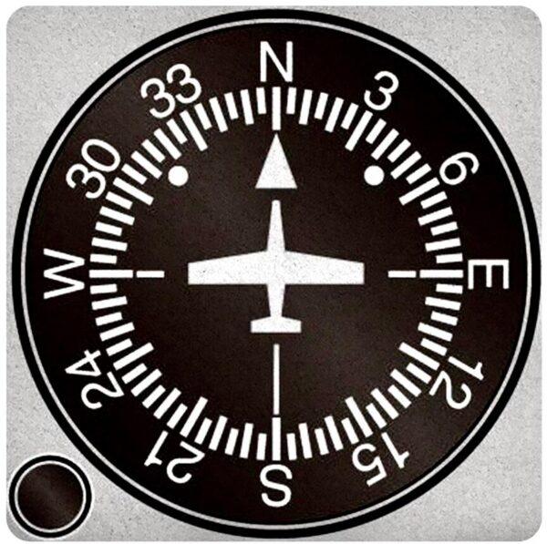 飛行員特色杯墊系列之飛行方向儀