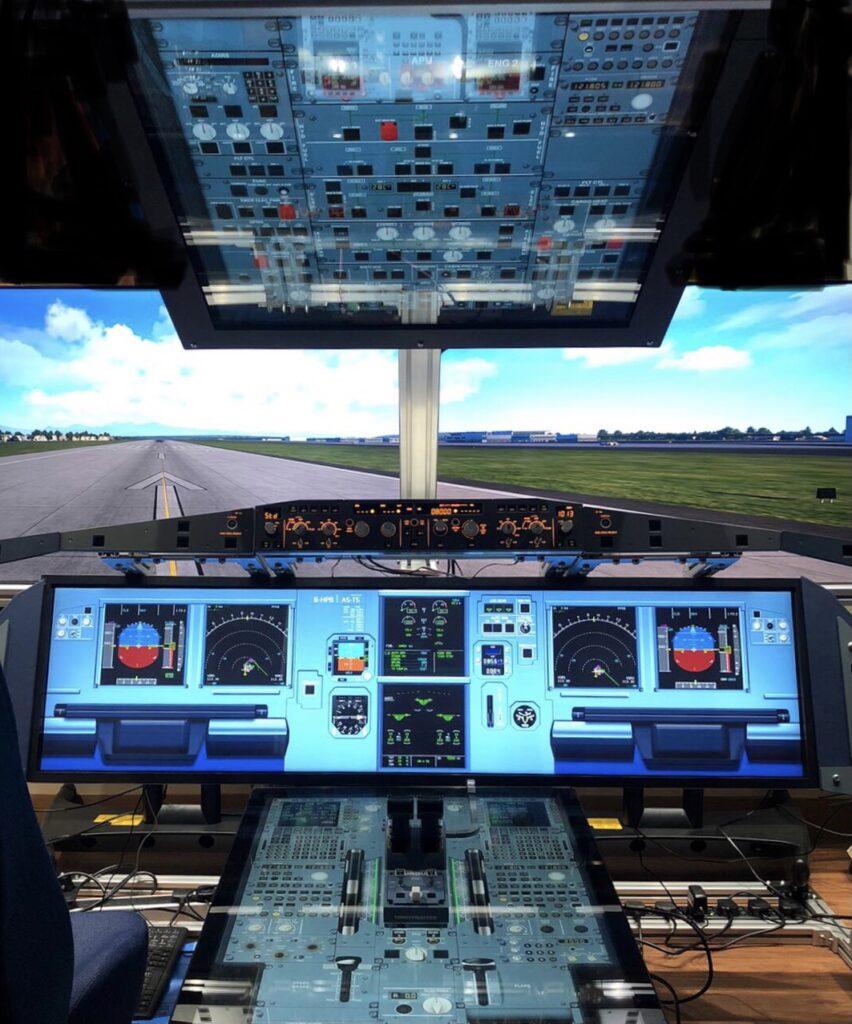 A321neo 1:1 輕觸式螢幕固定模擬器